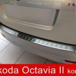 """""""Naklejamy na zderzaki i nie tylko""""- Nakładka na zderzak tylny Skoda Octavia II wersja kombi."""