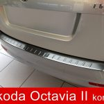 """We paste on the bumpers and not only"" – Rear bumper protector for Skoda Octavia II Estate"