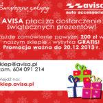 AVISA płaci za dostarczenie świątecznych prezentów-promocja!