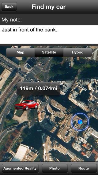 Aplikacja Find my car